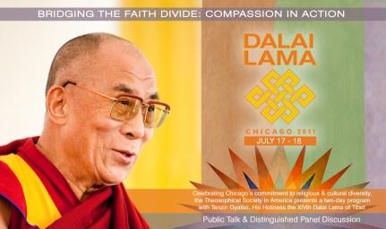 Dalai Lama Public Talk- iClips homepage banner, 2011