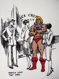 Women Love He-Men- 6 stencil silkscreen, 2008