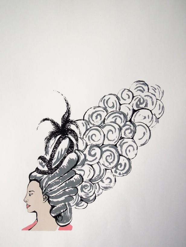 Marie- 4 stencil silkscreen, 2008