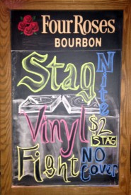 Stag Night Vinyl Fight- Chalkboard, 2014