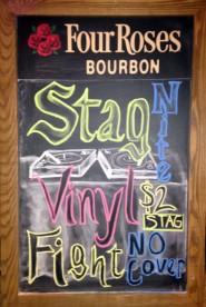 Stag Night Vinyl Fight- Chalkboard, 2014