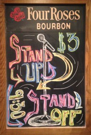 Stand Up/Stand Off- Chalkboard, 2014