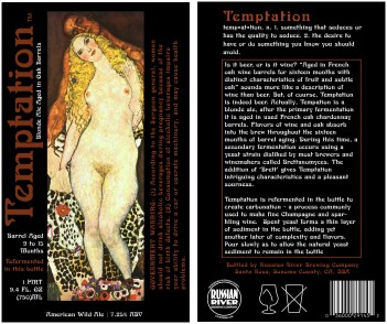 Temptation- Beer Label- 2009